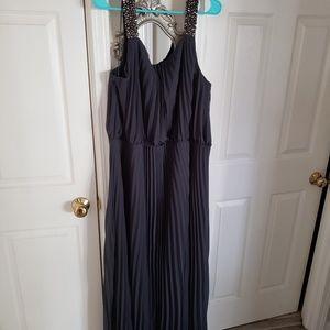 Dark gray evening gown